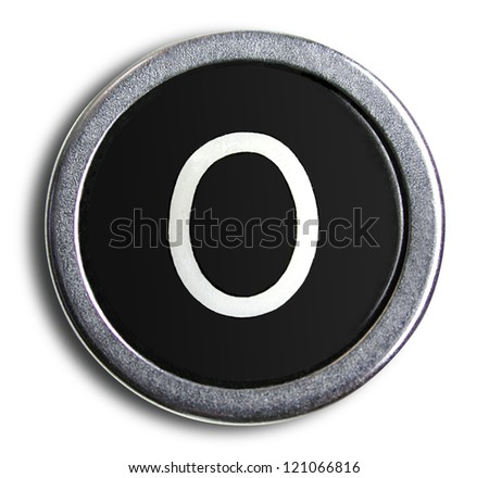 Photograph of Old Typewriter Key Letter O