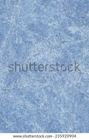 Photograph of Recycle Kraft Powder Blue Paper, coarse grain, blotted, mottled, spotted, grunge texture.