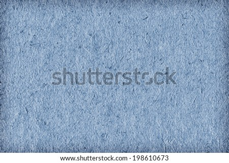 Photograph of recycle Powder blue paper, extra coarse grain, vignette, grunge texture sample
