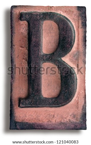 Photograph of Rubber Stamp Letter B