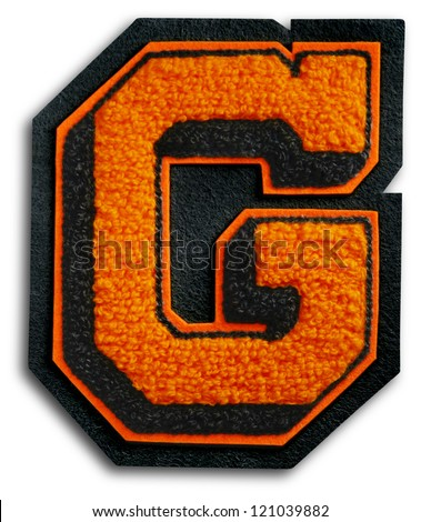 Photograph of School Sports Letter - Black and Orange G