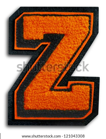 Photograph of School Sports Letter - Black and Orange Z