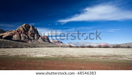 Photograph of the Mojave Desert just outside Las Vegas