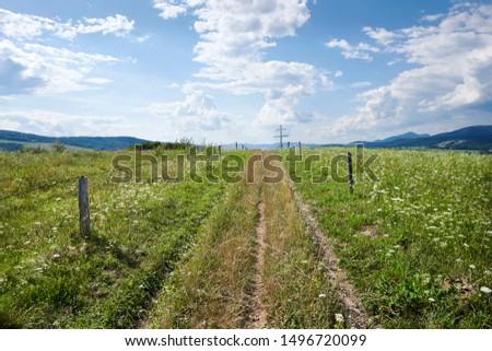 Photograph of the road to Cyrilometodsky Kriz, Bardejov, Slovakia Stok fotoğraf ©