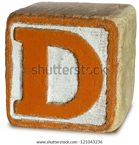 Photograph of Wooden Block Letter D