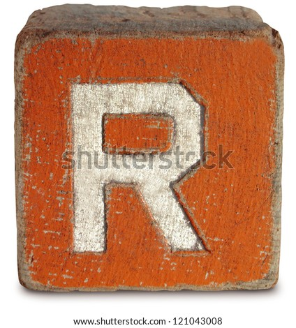 block letter r photograph of wooden block letter r stock photo 121043008 20639
