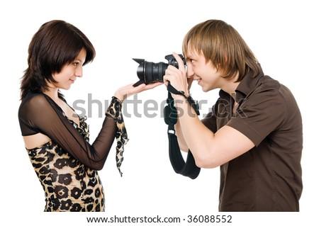 Photographer make shoot of a model