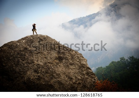 Photographer on Mountain in Turkey