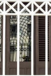 Photographer reflection capture complex white iron bar