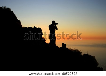 Photographer silhouette.