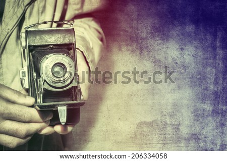 Photographer with vintage camera #206334058