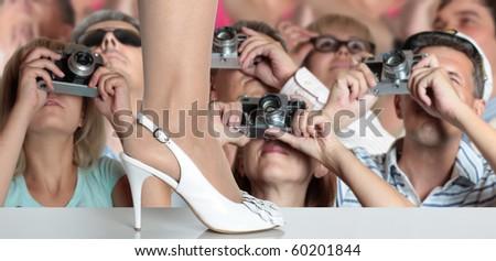 Photographers on fashion show