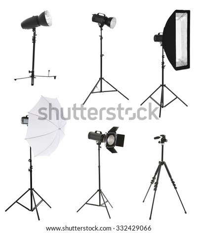 Photographic equipment isolated on white
