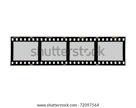 Photographic negatives isolated against a white background - stock photo