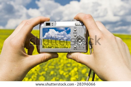 Photographing summer landscape with point and shoot digital camera