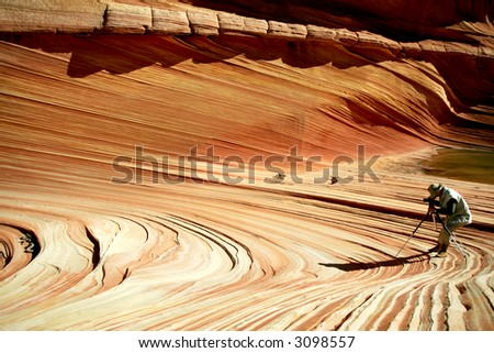 Photographing the Wave - Famous rock formation in Pariah Canyon, Utah, Vermillion Cliffs MN