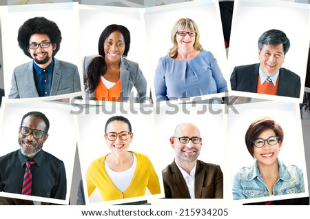Photographs of Diverse Group of People