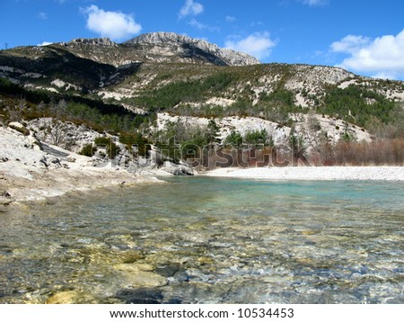 Photographs of the excursion in circuit TRIGANCE, BARN S OF BREIS, BRIDGE OF CARAJUAN, in the VAR, FRANCE Photo stock ©