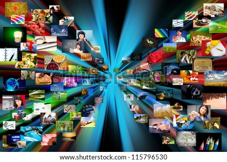 Photography internet gallery. Technology concept.