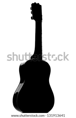 Photography of a Guitar silhouette