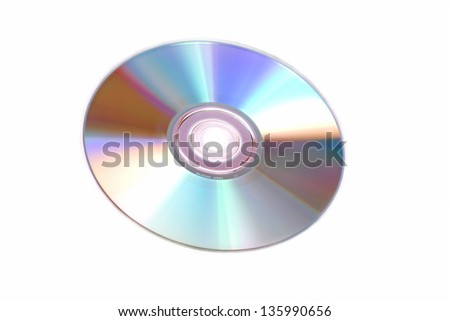 photography of a isolated cd rom