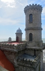 Photography of an ancient building known as Monk's Turret (Torreón del Monje) at Mar del Plata City