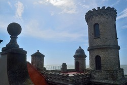 Photography of an old building known as Monk's Turret (Torreón del Monje) at Mar del Plata City