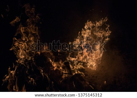 Photography of fire (bonfire), a bright flame