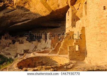 Photography of Mesa Verde National Park at Colorado USA  Stock photo ©
