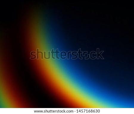 Photography of rainbow. Rainbow on black background.