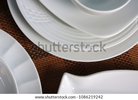 Photography of tableware and tableware products #1086219242