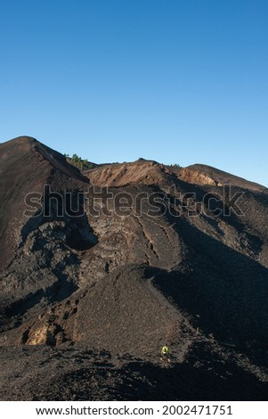 Photography of various volcanoes of Cumbre Vieja Natural Park. Foto stock ©