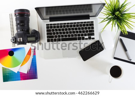 photography work space on top view #462266629