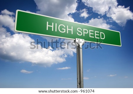 Photorealistic 3D high speed street sign