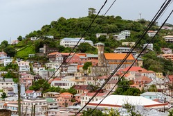 Photos from the Carenage in the town St Georges, Grenada of the Architecture