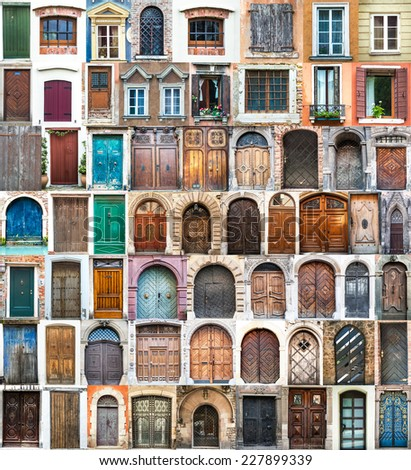 photos of doors and windows of...