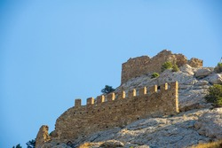 Photos of the Crimean peninsula, Sudak fortress, also called Genoese rock, the fortress was built in 212 by Alans, Khazars or Byzantines, Padishah-Jami Mosque, Museum-Reserve Sudak Fortress