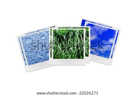 photos of water air and grass - stock photo