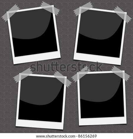 Photos with sticky tape