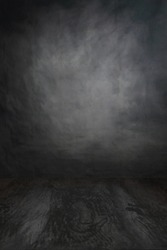 photoshoot studio with a grey backdrop ready for a packshot or mockup
