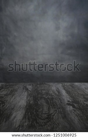 photoshoot studio with a grey backdrop ready for a product packshot