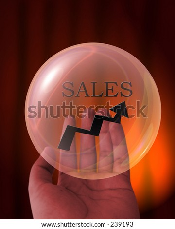 photoshop montage of crystal ball seeing future