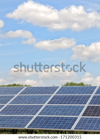 Photovoltaic installation, solar cells generate green electricity through solar energy
