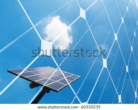 Photovoltaic panel  montage