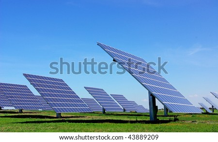 Photovoltaic panels. - stock photo