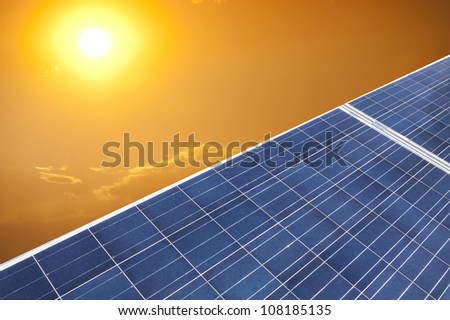 photovoltaic panels in the sky