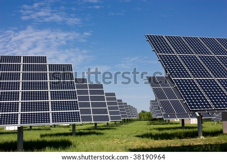 photovoltaic panels, solar panel to produce clean energy - sustainable, renewable, alternative source