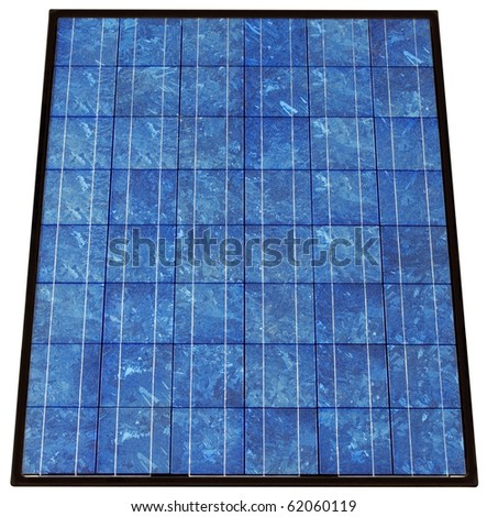 Photovoltaic solar cell panel collector isolated with clipping path