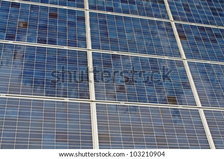 photovoltaic solar panels for the production of renewable electricity