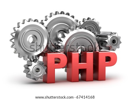 PHP Coding concept on white